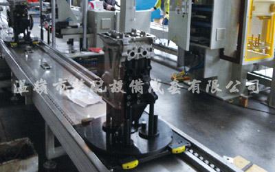 Automotive engine assembly line