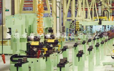 Automotive axle assembly line